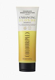 Шампунь Charles Worthington для светлых волос 2 в 1: усиление цвета и восстановление волос, 250 мл