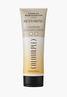 Кондиционер для волос Charles Worthington для светлых волос 2 в 1: уход за цветом и восстановление волос, 250 мл