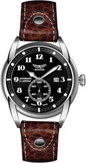 Швейцарские мужские часы в коллекции Vintage Bristol Мужские часы Aviator V.3.07.0.081.4