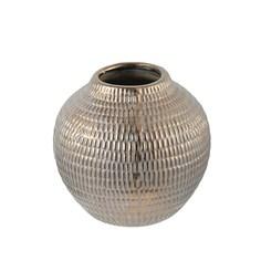 Ваза Glasar керамическая круглая в бронзовом цвете с патиной 15x15x15см ГЛАСАР