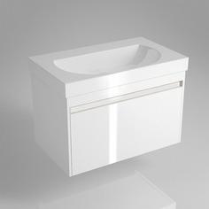 Тумба подвесная под умывальник Kerama marazzi buongiorno 80 см белый (с внутренним ящиком)