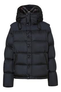 Темно-синяя куртка с отстегивающимися рукавами Burberry