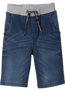 Шорты Бермуды джинсовые с мягким поясом Bonprix