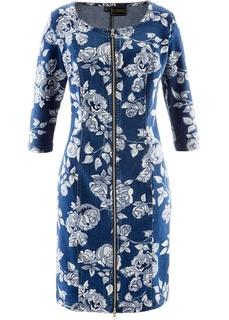 Платья с длинным рукавом Джинсовое платье Bonprix