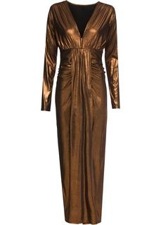 Платья с длинным рукавом Платье макси из ткани металлик Bonprix