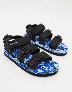 Черные сандалии на цветной подошве ASOS DESIGN-Черный