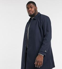 Макинтош в клетку Burton Menswear Big & Tall-Темно-синий