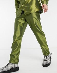 Зеленые свободные брюки в стиле милитари Milk It-Зеленый