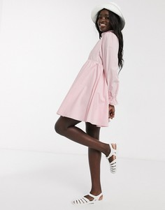 Свободное платье мини с пышной юбкой Daisy Street-Розовый