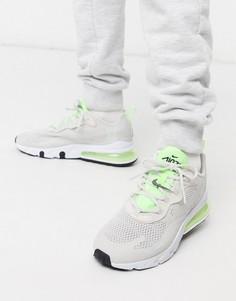 Серые кроссовки с неоновой отделкой Nike Air Max 270-Серый