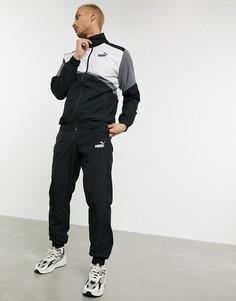 Серый спортивный костюм в стиле ретро Puma