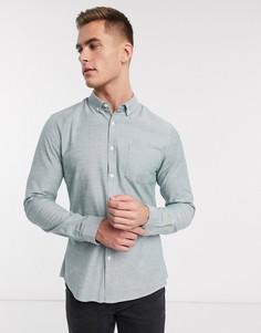 Зеленая узкая повседневная оксфордская рубашка ASOS DESIGN-Зеленый
