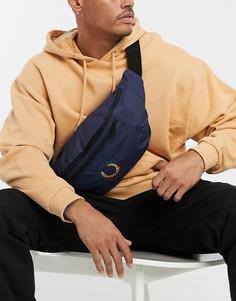 Темно-синяя сумка через плечо из ткани рипстоп с логотипом Fred Perry-Темно-синий