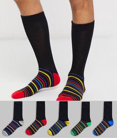 Набор носков с рисунком Brave Soul - 5 пар-Черный