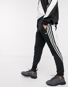 Черные джоггеры с 3 полосками adidas Originals-Черный