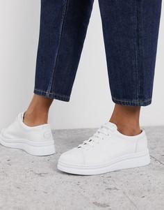 Белые кожаные кроссовки Camper Runner Up-Белый