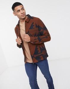 Куртка с принтом River Island-Коричневый