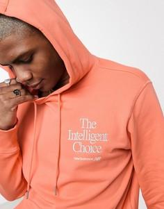 Худи оранжевого цвета New Balance Intelligent Choice-Оранжевый