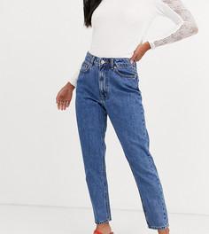 Синие укороченные джинсы в винтажном стиле с завышенной талией Vero Moda Petite-Синий