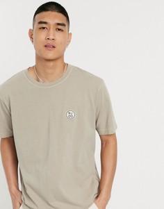 Бежевая футболка с логотипом Nudie Jeans Co-Бежевый