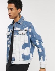 Джинсовая куртка с принтом тай-дай Nudie Jeans Co Jerry-Синий