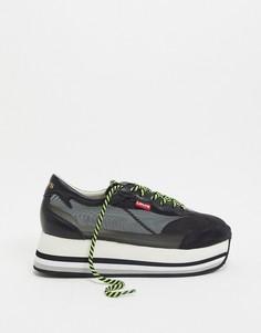 Сетчатые кроссовки на платформе Levis-Черный
