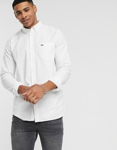 Белая оксфордская рубашка с воротником на пуговицах Lacoste-Белый