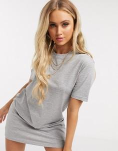 Платье-футболка Brave Soul-Серый