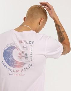 Розовая футболка Hurley-Черный