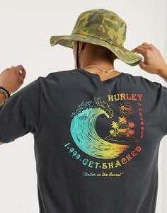 Серая футболка Hurley-Серый
