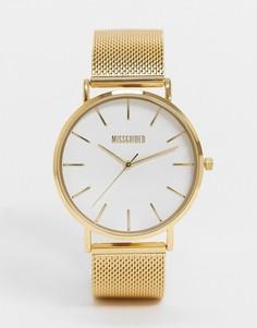 Женские часы с сетчатым браслетом Missguided MG016GM-Золотой