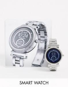 Серебристые смарт-часы Michael Kors Access MKT5020 Sofie-Серебряный