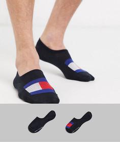 Набор из 2 пар черных невидимых носков с логотипом-флагом Tommy Hilfiger-Черный