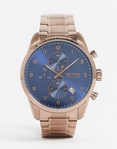 Золотистые наручные часы с хронографом BOSS 1513788-Золотой