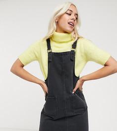 Серый джинсовый сарафан Noisy May Petite