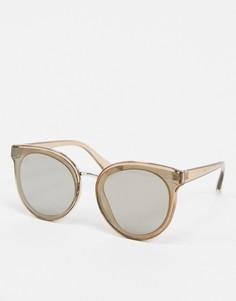 Коричневые круглые солнцезащитные очки Jeepers Peepers-Коричневый