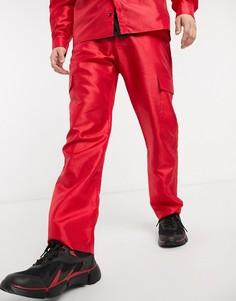 Красные брюки в винтажном стиле Milk It-Красный
