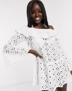 Пляжное платье с открытыми плечами Anmol-Белый