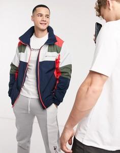 Куртка колор блок на молнии Tommy Sport-Темно-синий
