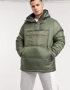 Зеленая утепленная куртка со вставкой Tommy Sport-Зеленый