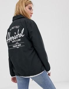 Черная спортивная куртка с логотипом на спине Herschel-Черный