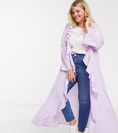 Легкая куртка длины макси Verona Curve-Фиолетовый