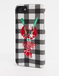 Чехол для iPhone 6/6S/7/8 с омаром Skinnydip-Красный