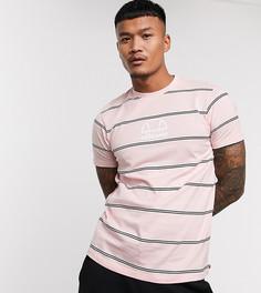 Розовая футболка в полоску ellesse эксклюзивно для ASOS-Розовый