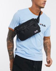 Черная сумка-кошелек на пояс с двойным логотипом Fila Harl-Черный