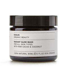 Evolve Organic Beauty Очищающая маска «Radiant Glow Mask With Cacao & Coconut» 60 мл