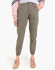 Хаки брюки-джоггеры Gloria Jeans