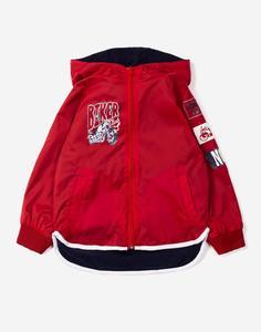 Красная куртка с мотопринтом для мальчика Gloria Jeans