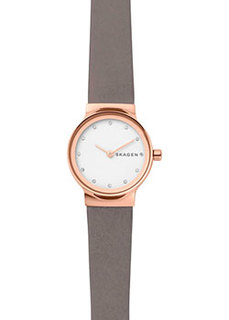 Швейцарские наручные женские часы Skagen SKW2669. Коллекция Leather