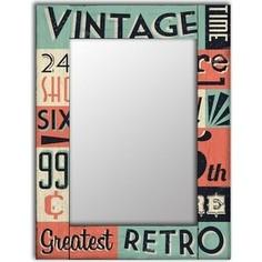 Настенное зеркало Дом Корлеоне Винтаж 80x80 см